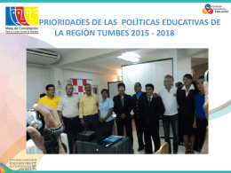 Prioridades Tumbes - Consejo Nacional de Educación