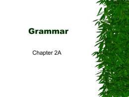 Grammar - marvillespanish