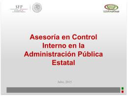 Presentación Asesoría en Control Interno en la Administración