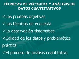 5Técnicas de recogida y análisis de datos cuantitativos