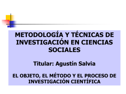 el objeto, el método y el proceso de investigación científica ii