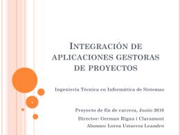 Integración de aplicaciones gestoras de proyectos