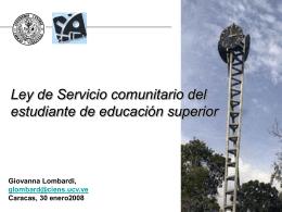 Servicio comunitario es - Facultad de Ciencias-UCV