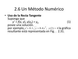 2.6 Un Método Numérico