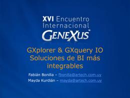 Gxplorer & Gxquery Aumentando la integración