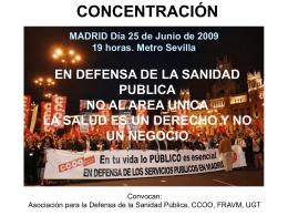 concentración contra el área única. madrid 25 / 6 / 2009.