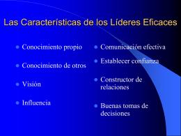 LASCARACTERISTICASLIDERESEFICIENTES