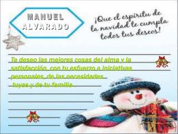 Felicitación de Manuel Alvarado.
