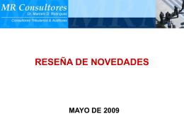 07- Novedades de Mayo 2009