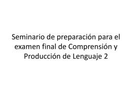 Seminario preparatorio para el examen final (texto