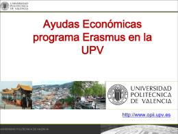 Ayuda Económica Erasmus Estudios Curso 2012-2013