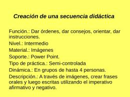 Creación de una secuencia didáctica