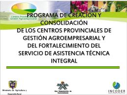 Programa de acompañamiento para la creación y consolidación de
