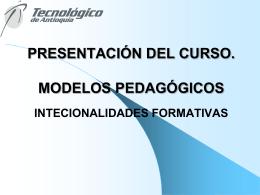 PRESENTACION MODELOS PEDAGOGICOS