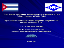 GIRH en Cuba - Programa de las Naciones Unidas para el