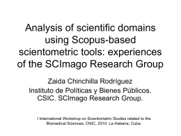 Analysis of scientific domains using Scopus-based - e-Lis