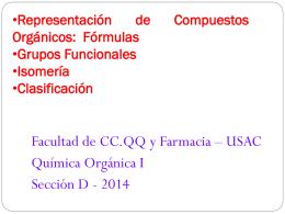 Fórmulas - Departamento de Química Orgánica