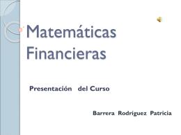 Matemáticas Financieras - Docencia FCA-UNAM