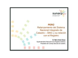 SNIC y su relación con el Registro.