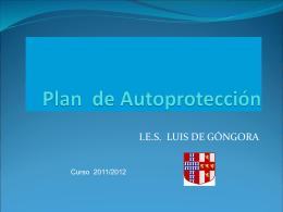 Plan de Autoprotección IES Luis de Góngora
