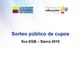 Sorteo Público de Cupos - Ministerio de Educación
