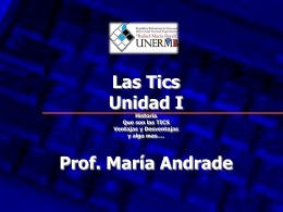 Unidad I TICs