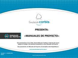 Diapositiva 1 - Manuales de Proyecto