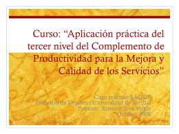 Presentacion Curso d.. - Sección Sindical CC.OO. Universidad de