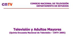 Lea el estudio completo del CNTV