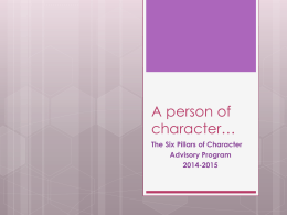 A person of character…