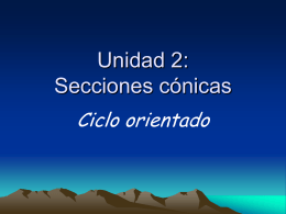Unidad 2: Secciones cónicas