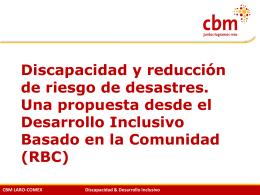 CBM LARO-COMEX Discapacidad & Desarrollo Inclusivo Quito, jun
