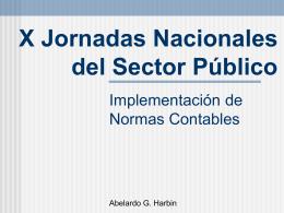 EL PRESUPUESTO - X Jornadas Nacionales del Sector Público