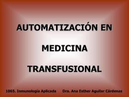 Automatización en banco de sangre
