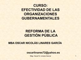 2 Clase - Maestria en Gestión Pública UCV