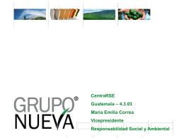 Presentación de Grupo Nueva dada por María Emilia