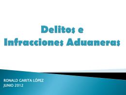 DELITOSADUANEROSEINFRACCIONES2012