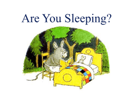 Are You Sleeping? - Bulletin Boards for the Music Classroom