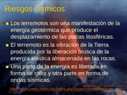 RIESGOS SISMICOS