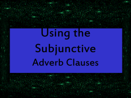 subjunctive_usage - Linda Rogers` Site