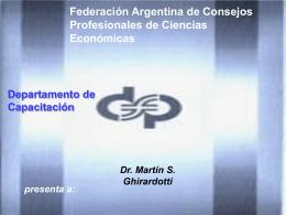 Resultados - Consejo Profesional de Ciencias Economicas de