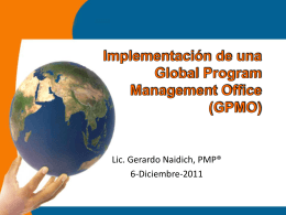 Implementación de una Global Program Management