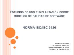 Características de la norma ISO/IEC 9126 - isi