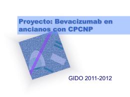 Proyecto: Bevacizumab en ancianos con CPCNP