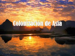 Colonización de Asia