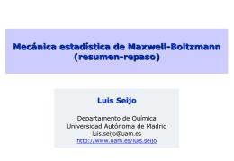 Mecánica estadística de Maxwell-Boltzmann