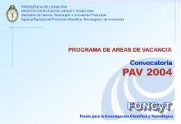 PAV 2004 presenta MODIF
