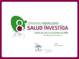 Diapositiva 1 - X Jornadas Andaluzas Salud Investiga
