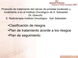 Análisis descriptivo de los pacientes con cáncer de próstata tratados