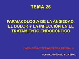Leccion 10. Dolor, ansiedad en endodoncia